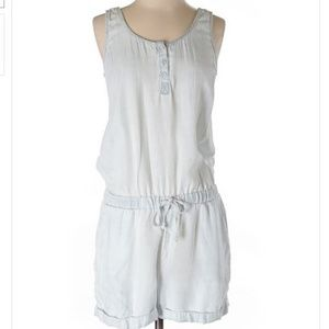 Cloth and Stone Anthropologie Romper white blue